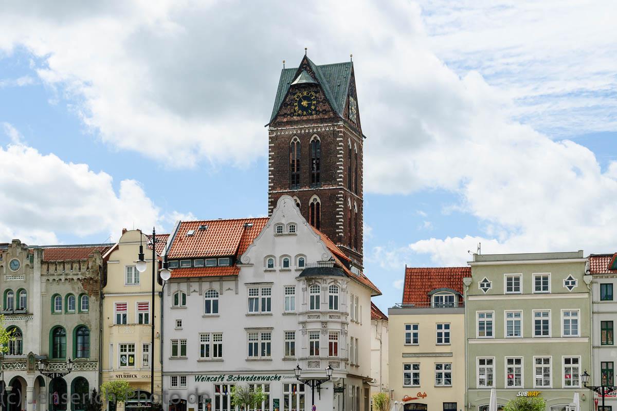 Der Marktplatz in Wismar im Jahre 2010