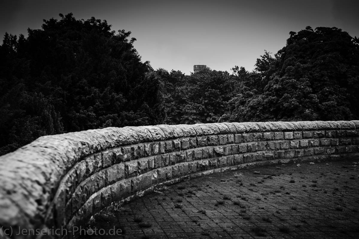 Eine Mauer an dem Wilhelmdenkmal an der Syburg zu Dortmund - Hohensyburg Dortmund