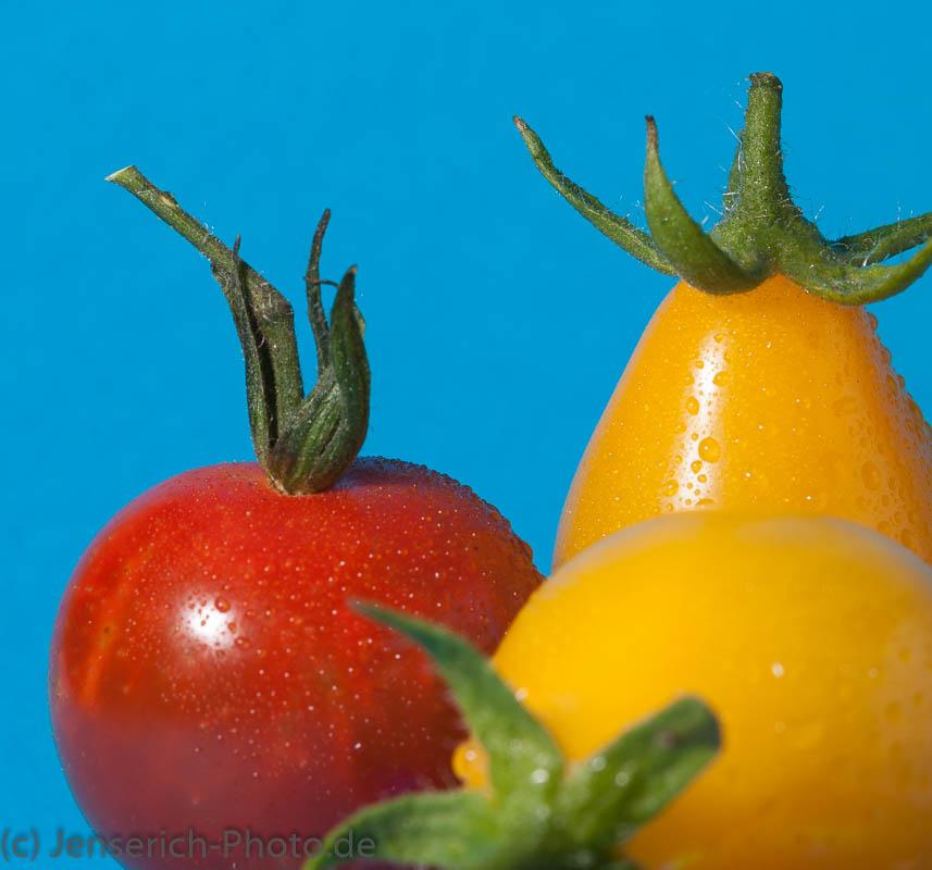 Farbige Tomaten in rot und gelb
